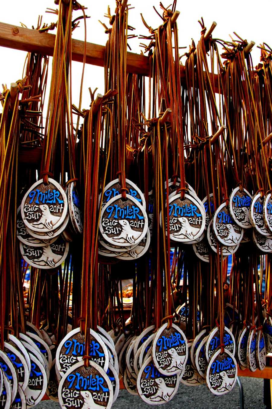 Medals for the 9-mile Point Lobos race feature sea lions.