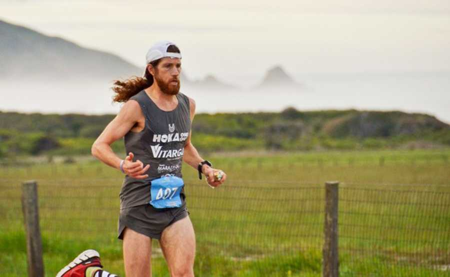 Michael Wardian maintained the lead for all 26.2 miles while running from Big Sur to Carmel.