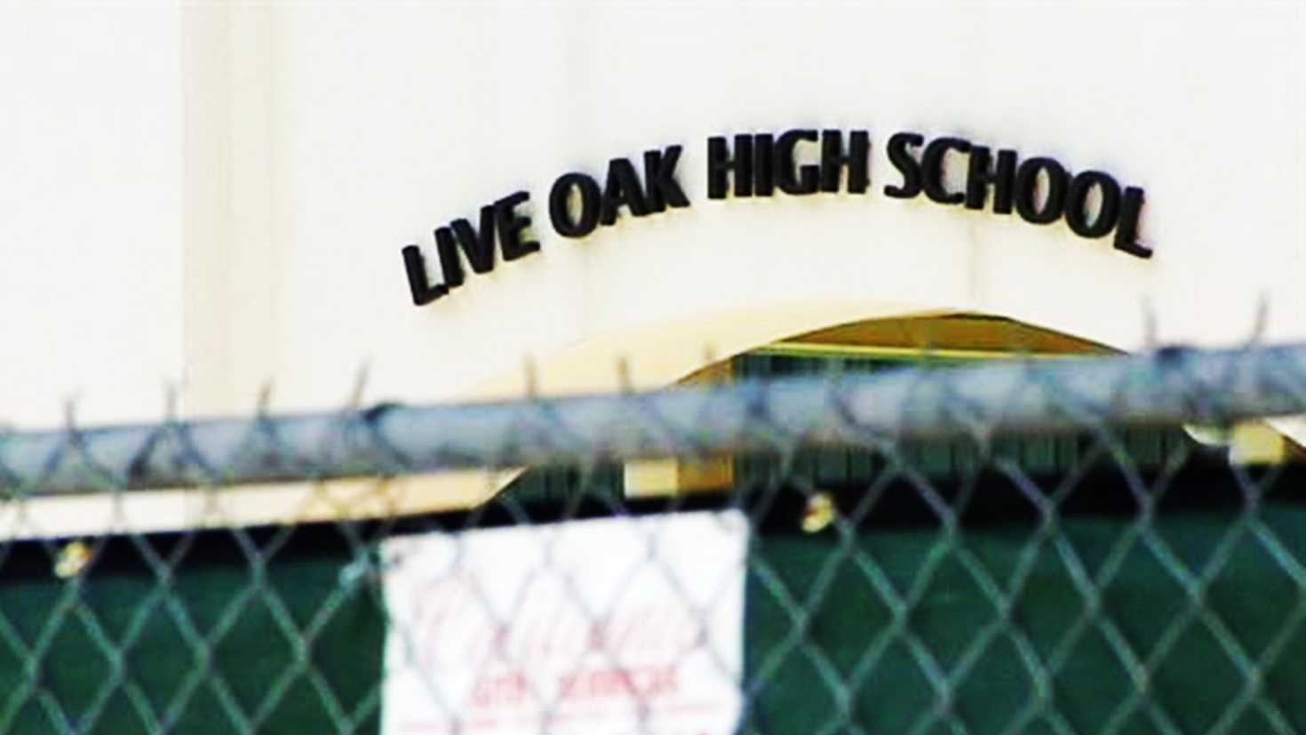 A fence was constructed around Live Oak High School for Cinco De Mayo.