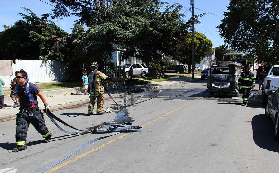 Firefighters extinguished the flames by 3 p.m. and no one was injured.