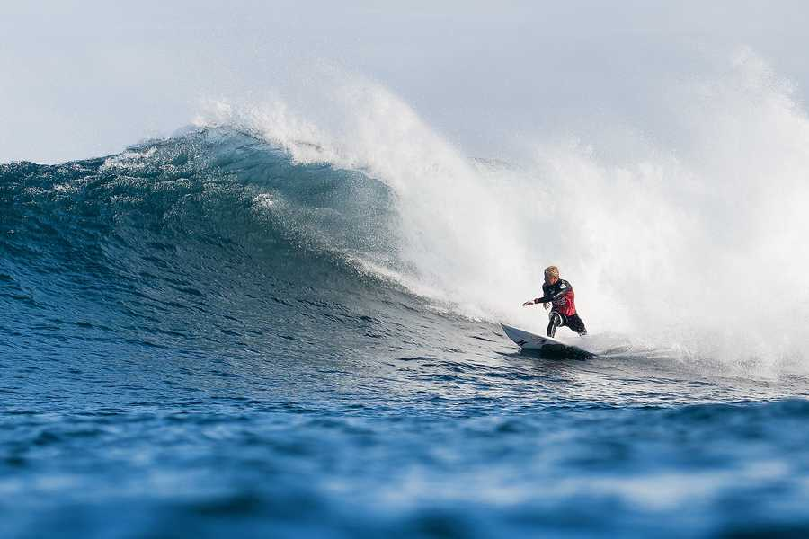 Nat Young is seen here competing at the2014 Drug Aware Margaret River Pro inAustralia.
