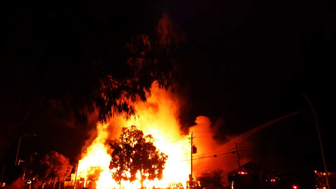 Robert Staton took this photograph of the May 12 Watsonville fire.