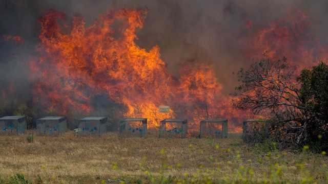 "A string of dangerous wildfires in has ripped through San Diego County in recent days, prompting evacuations, sparking ""firenadoes"" and causing extensive damage."