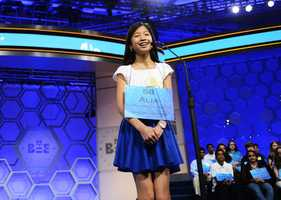 Alia Abiad, 14, was one of the last two girls standing in the spelling bee.