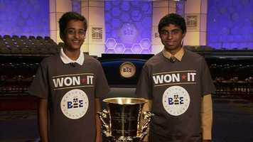 Sriram Hathwar and Ansun Sujoe won the 2014Scripps National Spelling Bee.