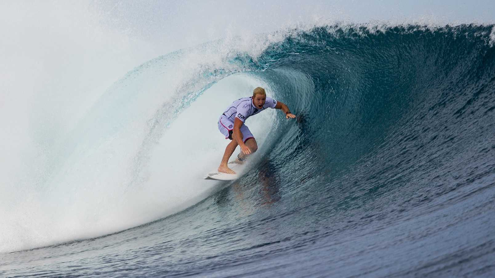 Nat Young of Santa Cruz is seen competing in Fiji on June 4, 2014.