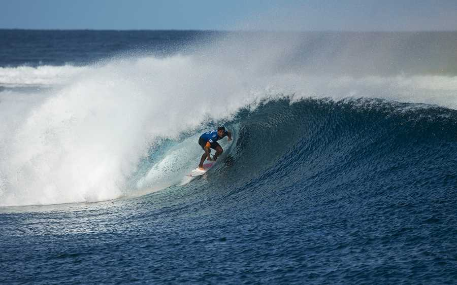 Young was defeated byBrazil's Gabriel Medina (seen here) in the Fiji Pro final. (June 5, 2014)