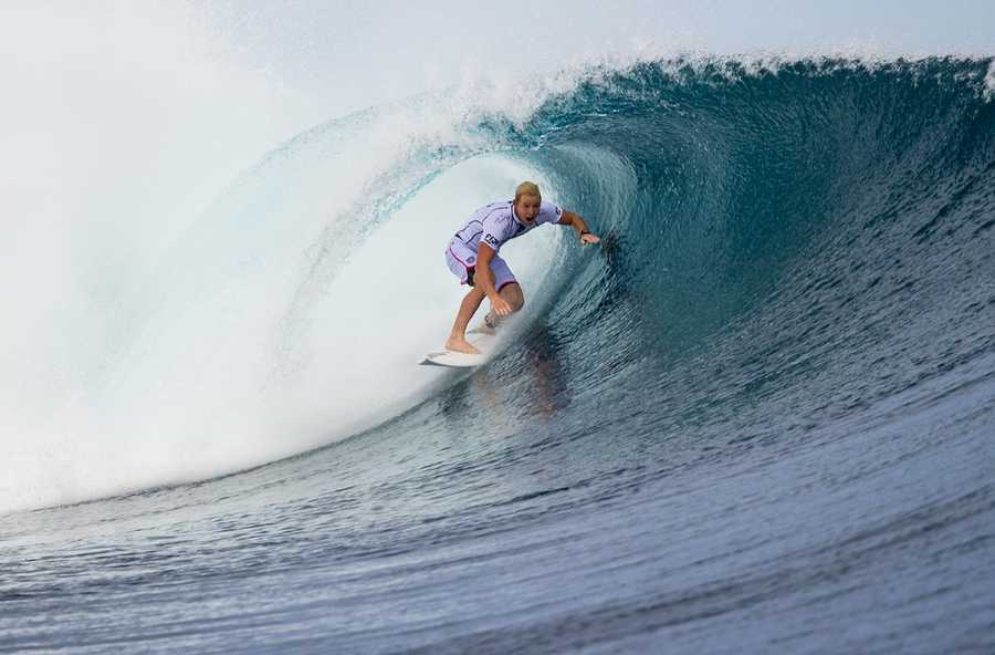 Young defeated Michel Bourez of Tahiti in the Fiji Pro semifinal. (June 5, 2014)