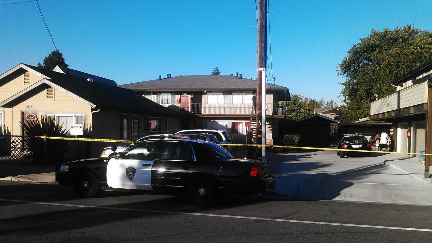 A victim was killed in the second-floor apartment.