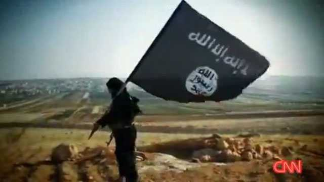ISIS flag carrier