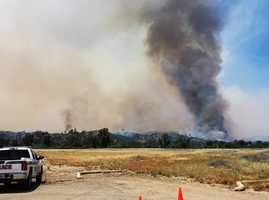 A 5,000-acre fire burned across Fort Hunter Liggett.  (June 20, 2014)