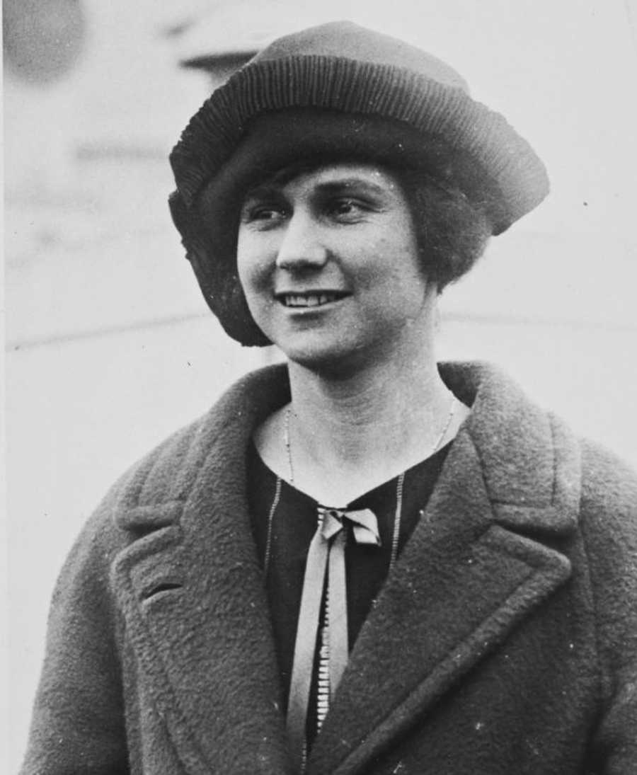 Marion Hollins, seen here in 1919, was a millionaire oil heiress. She bought the barn from a famous architect, William Wurster, after he built it in 1930.