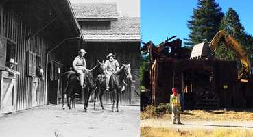 A historic polo barn built in 1930 in Scotts Valley was demolished on Friday after an effort to save the barn failed. (June 27, 2014)