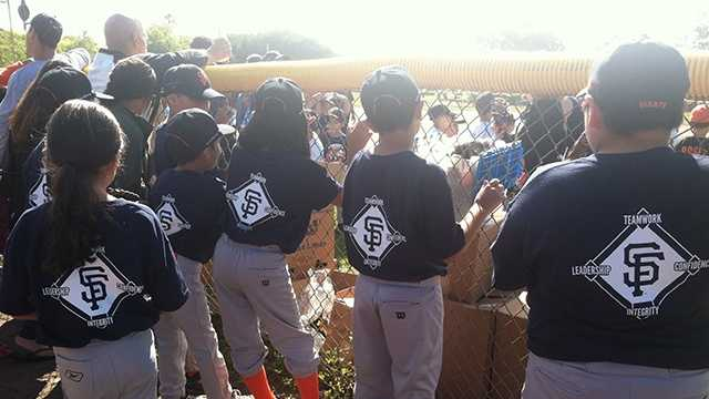 Hundreds of kids participate in opening day of Junior Giants Baseball in Salinas