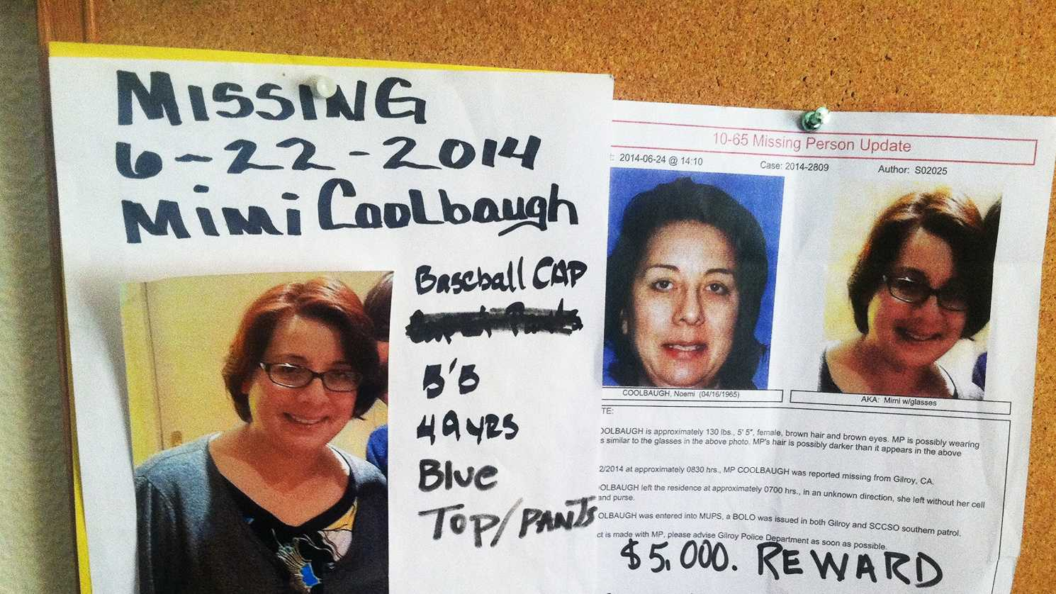 Missing posters for Noemi Coolbaugh are posted in Gilroy.