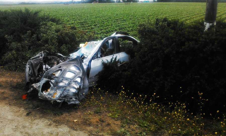 Neither girl had a driver's license, and they were not wearing seat belts, investigators said.