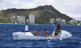It took Team Uniting Nations 43 days, two hours, and 30 minutes to row 2,281 nautical miles from Monterey to Hawaii and win the Great Pacific Race.