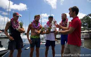 Team Uniting Nations celebrates victory in Hawaii on July 22.