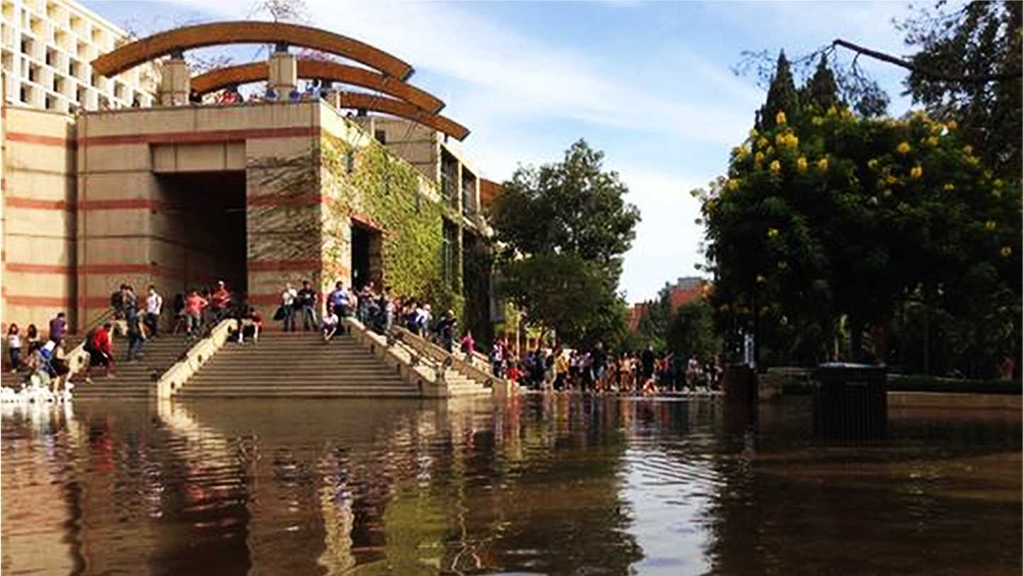 UCLA was flooded on Tuesday.