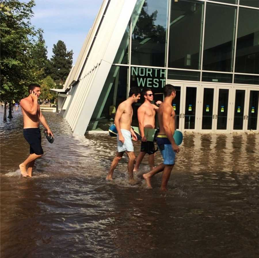 A ruptured 93-year-old water main left the UCLA campus awash in 8 million gallons of water in the middle of California's worst drought in decades.