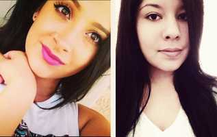 Ariana Zendejas, left, was shot to death in Hollister on Aug. 1, 2014. Police believe the gunman went on the run with his ex-girlfriend, Vanessa Flores, right, for seven months.