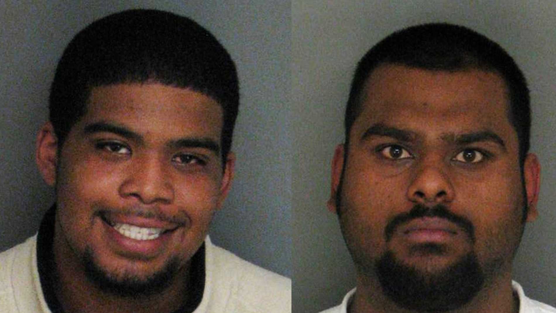 Jordan Killins, left, and Richard Singh, right, are seen in mug shots.