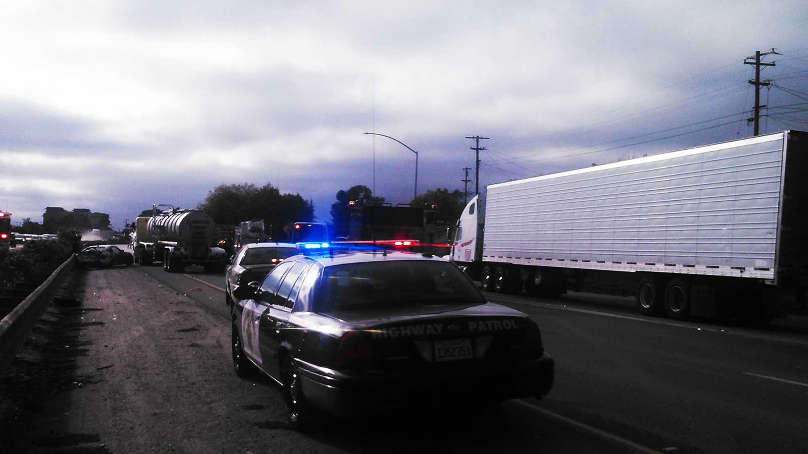 Highway 101 crash in Salinas  (Aug. 15, 2014)