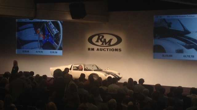 Buyers from around the world place bids on classic cars