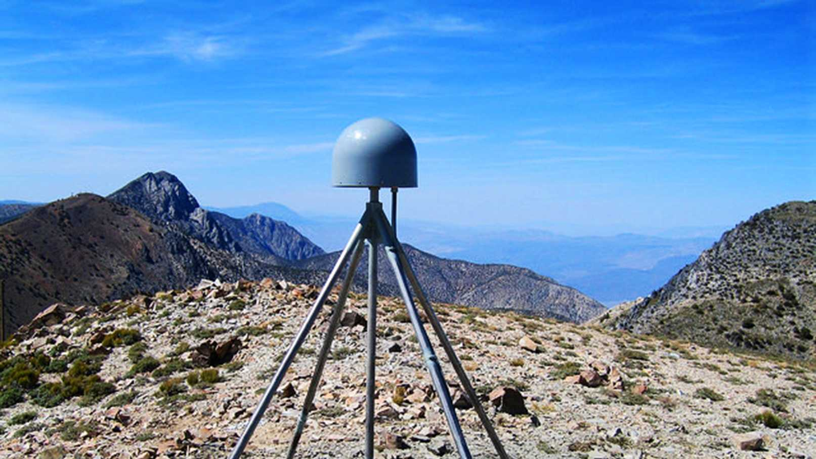 Plate Boundary Observatory GPS station P466, located in the Inyo Mountains near Lone Pine, California. P466 is mounted on a deep-drilled braced monument, and its displacement data were used in the determination of water loading changes in the western U.S.