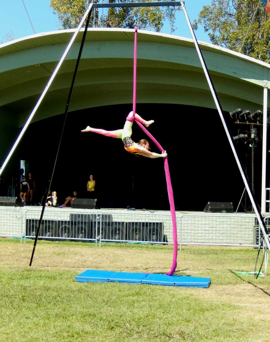 Young dancers with Aerial Arts Santa Cruz showed awesome athleticismwhile performing at the Santa Cruz County Fair on Sunday.