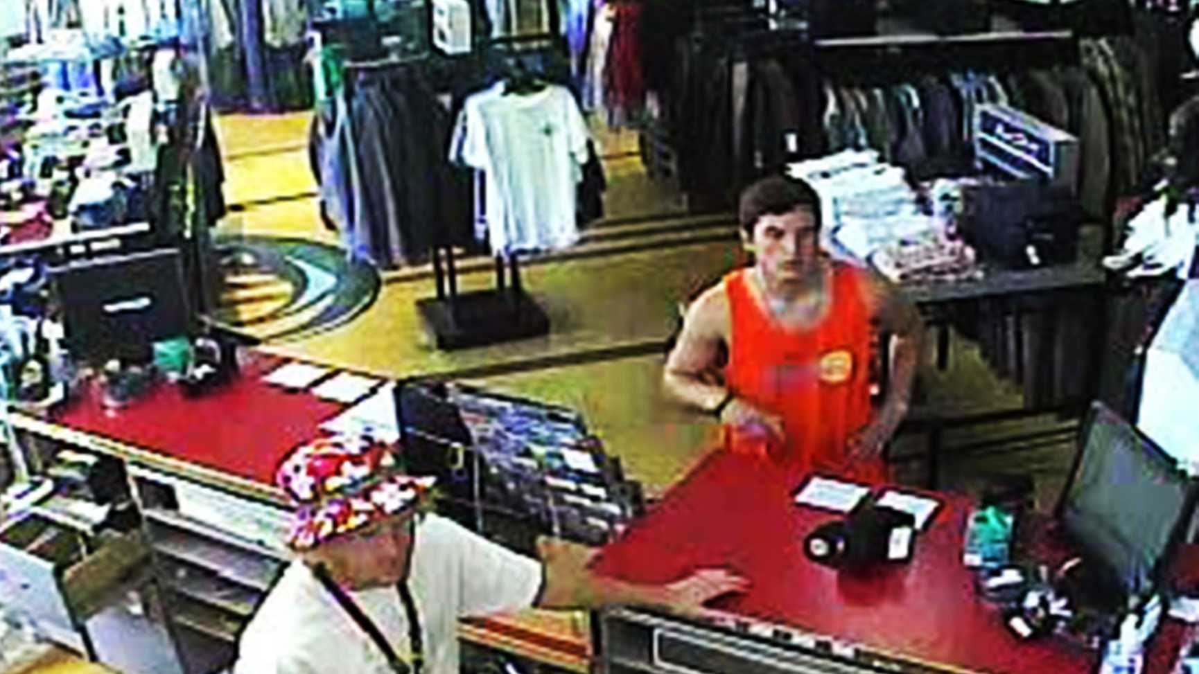 Santa Cruz police are asking the public for help to identify this man who stole from O'Neill surf shop on Pacific Avenue.