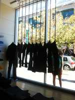 The Santa Cruz Gap store's manager refused to answer questions from reporters about the display.