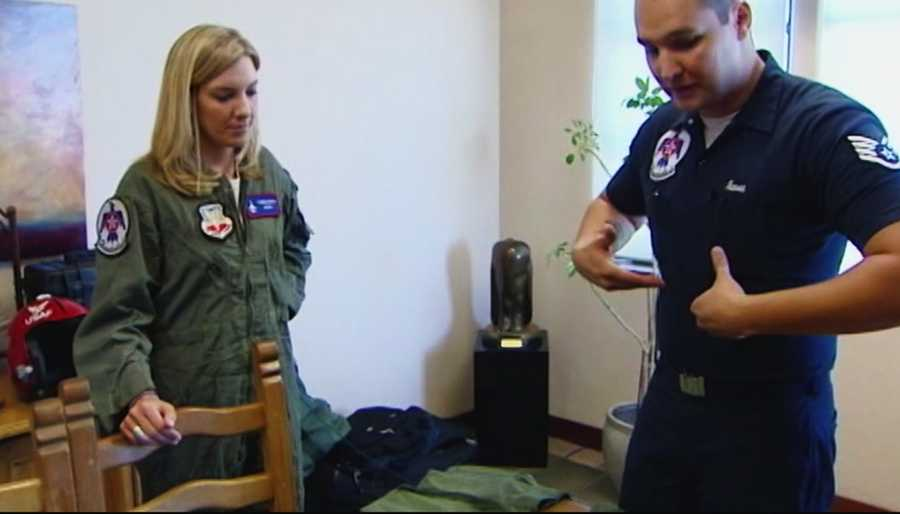 Nielsen underwent G-force training before her aerial adventure.