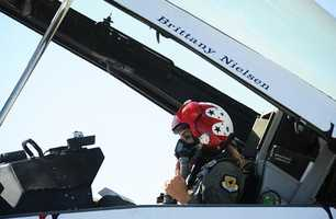 The Thunderbirds landed at Monterey airport Thursday and picked up Reporter Brittany Nielsen.