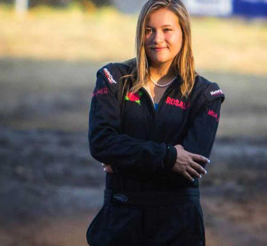 She's Rosalee Ramer, the youngest female professional Monster Truck driver in the world. Ramer is also a student at Pacific Collegiate School in Santa Cruz.