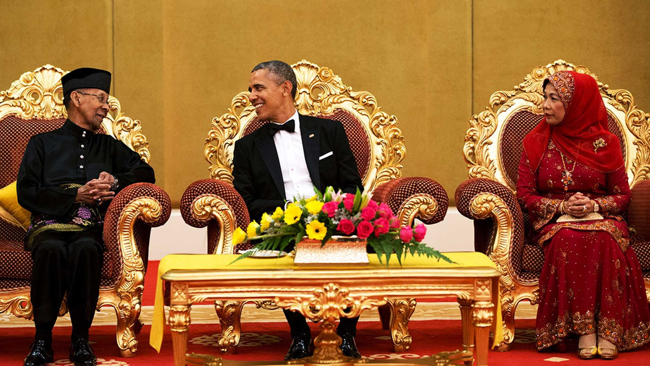On Thursday President Barack Obama said he is looking forward to the day he can wear sweatpants to work. Obama is seen here meeting with the King and Queen ofMalaysia in April 2014.