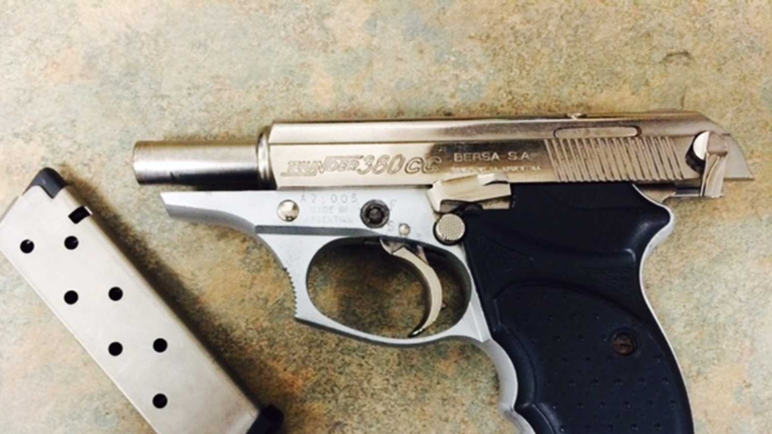 A student brought this loaded gun toMission Hill Middle School in Santa Cruz.