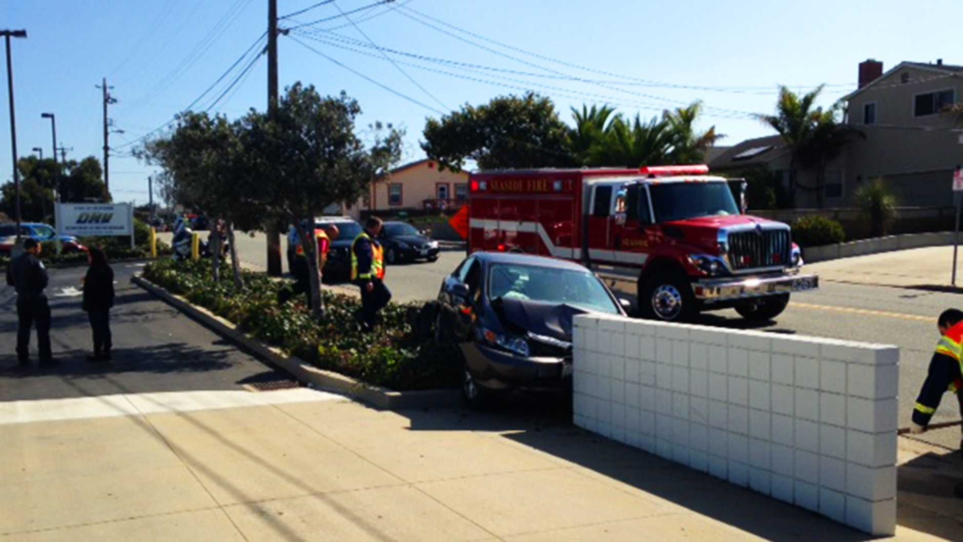 Seaside DMV crash (Oct. 14, 2014)