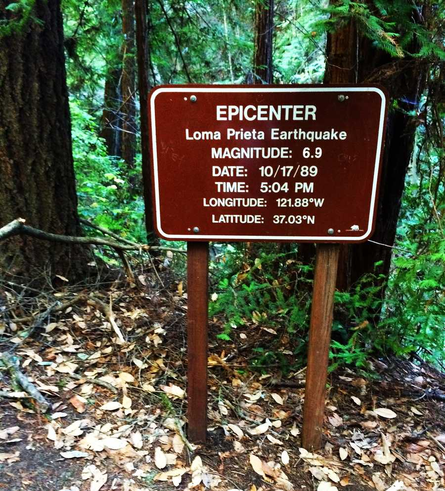 You made it! Or have you? This sign claims to mark the epicenter. But state park officials confirmed that the real epicenter is actually 1 mile away and no trail leads to it.