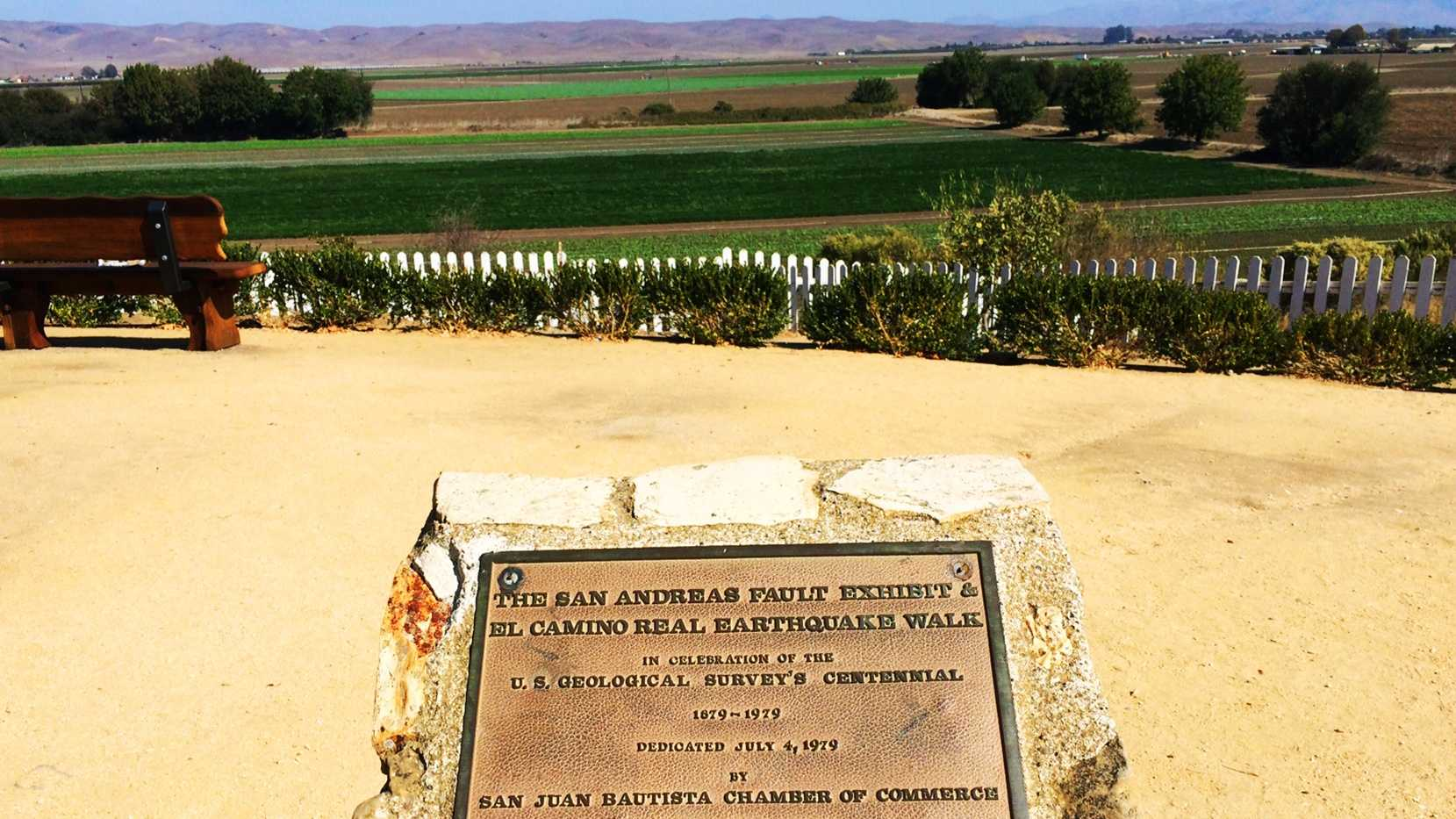 The San Andreas Fault is seen in San Juan Bautista.