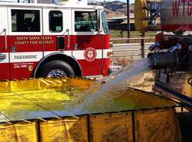 """Our fire engines and water trucks had to roll into Gilroy, fill off their fire hydrants, and then return here,"" Witt said."