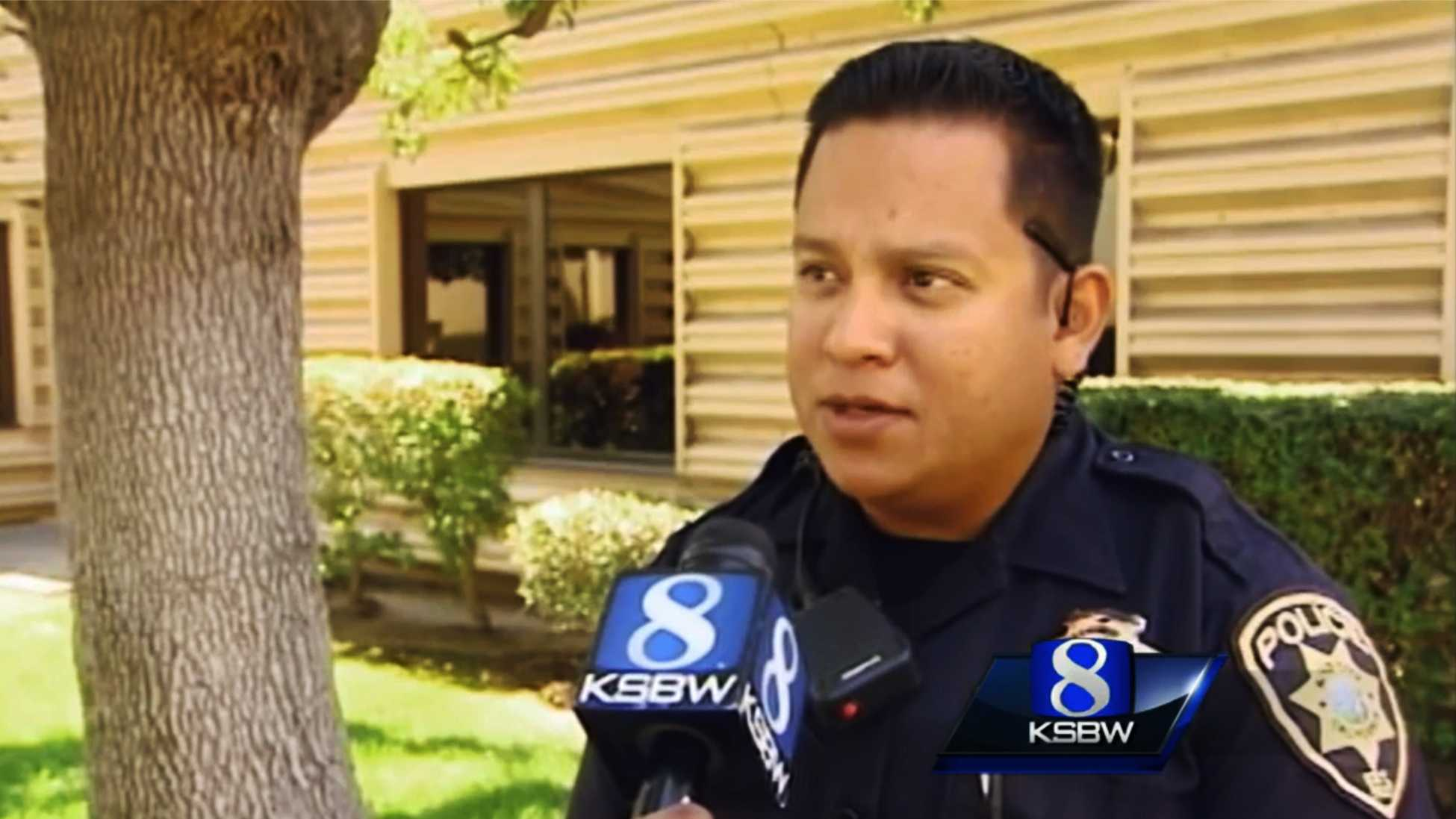 KSBW interviewed King City police officer David Hernandez in August.