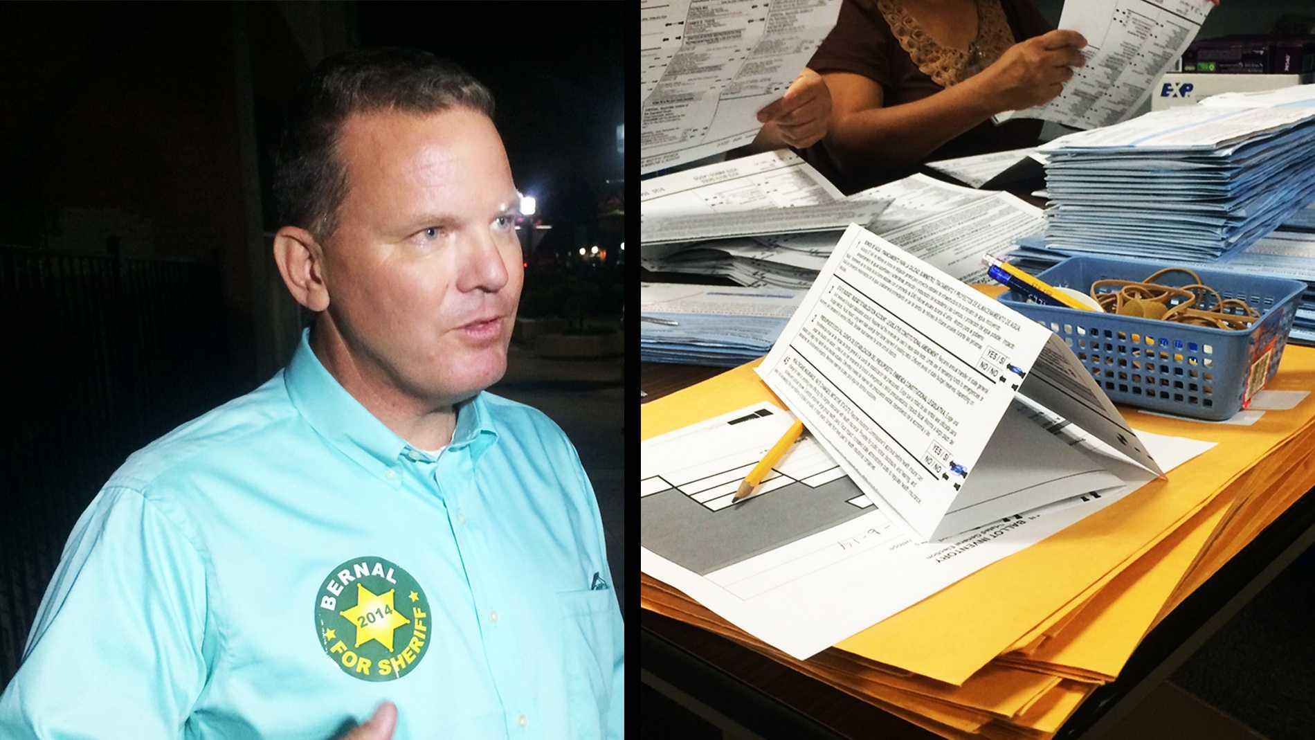 Deputy Steve Bernal / Monterey County ballots being counted.