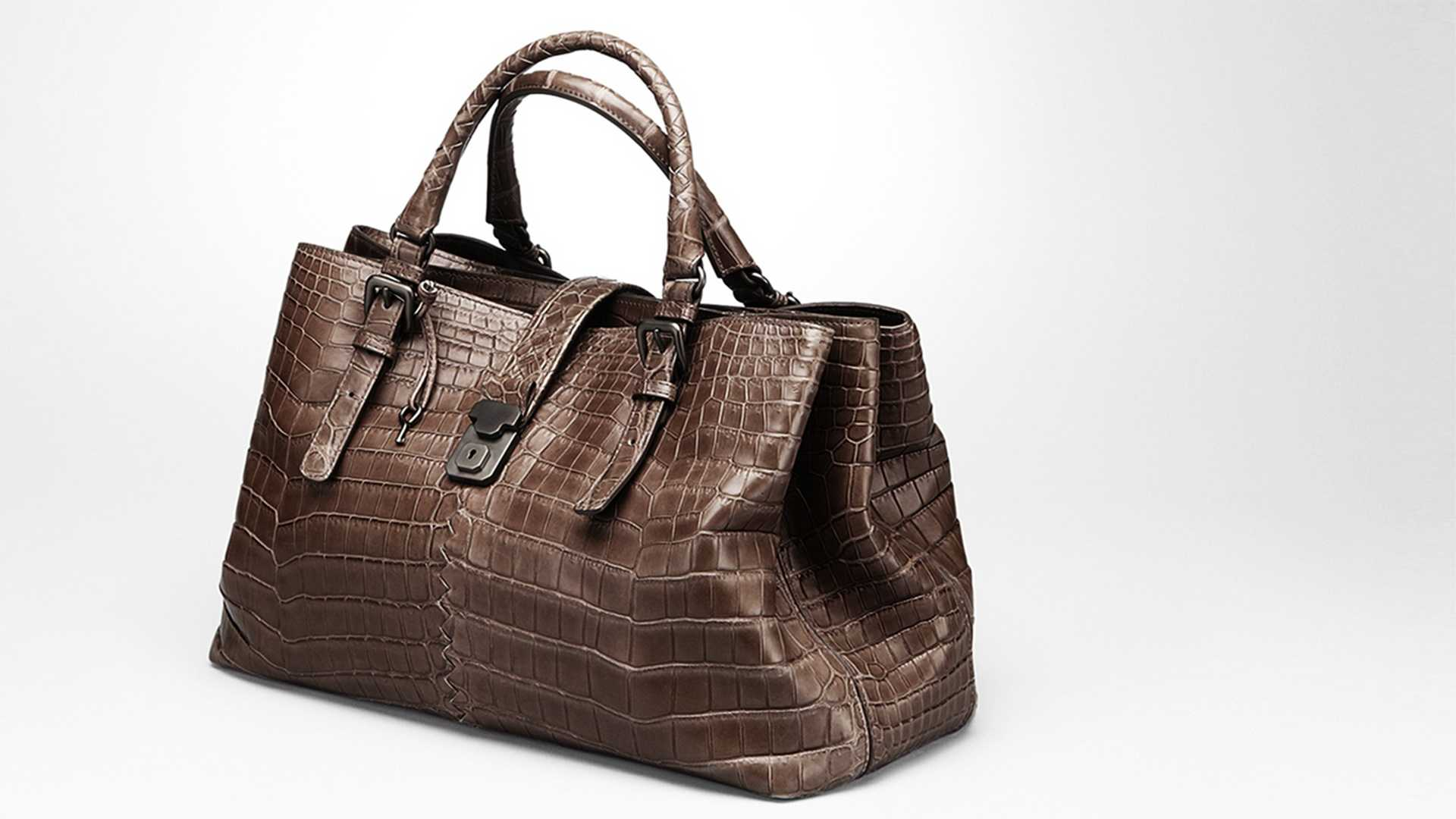 This Edoardo soft crocodile fume roma bag costs $29,600.