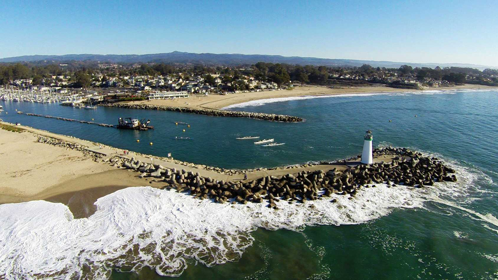 This beautiful photo of the Santa Cruz Harbor was shot by Archer Koch's drone camera.