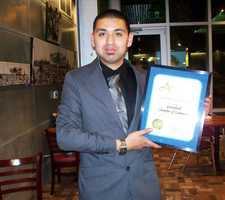 Mungia said he received an award from State Assemblyman Luis Alejo for his work with the Greenfield Chamber of Commerce.