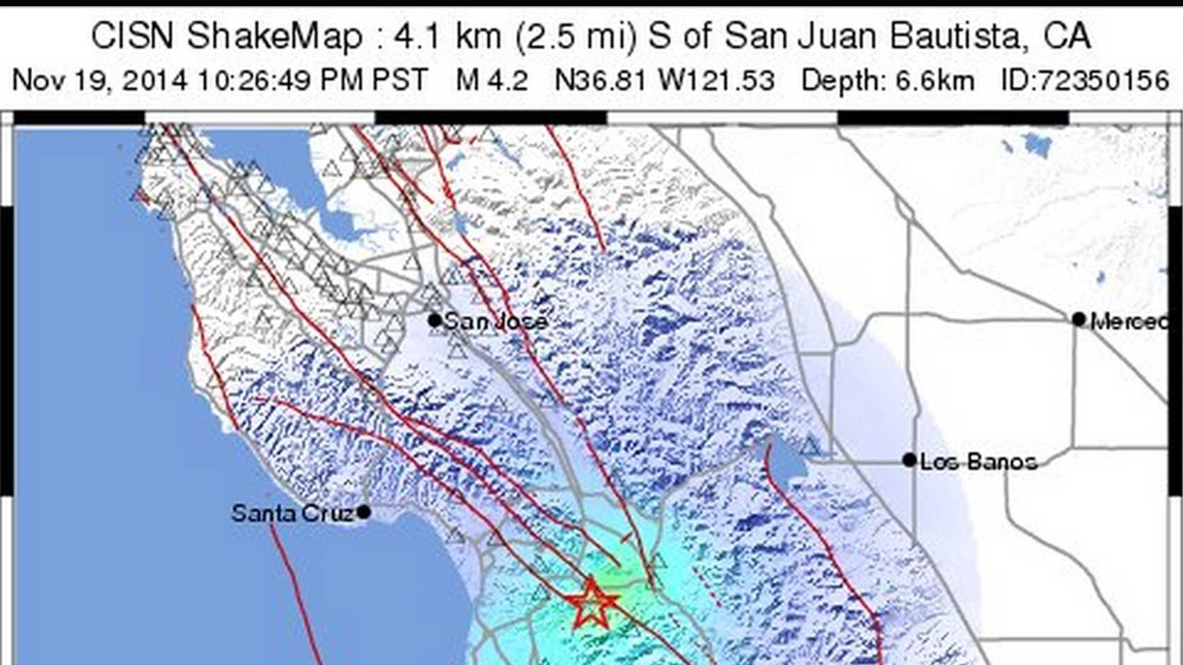 Shake Map / Nov. 19, 2014