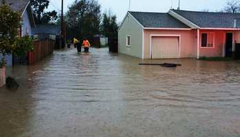 At least 15 homes on Russell Road in Salinas flooded at 3:30 p.m. Firemen carried residents out of their homes to safety, and more than 30 residents had to evacuate.Dec. 11.