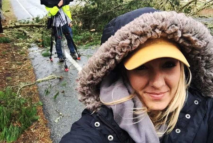 Anchor Brittany Nielsen was out reporting on 17 Mile Drive in Pacific Grove when yet another tree came crashing down a few yards away from her.