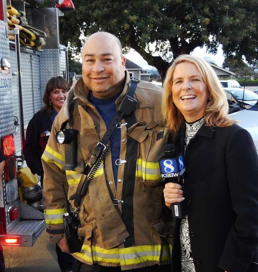 Fireman Dan Green and Erin Clark!